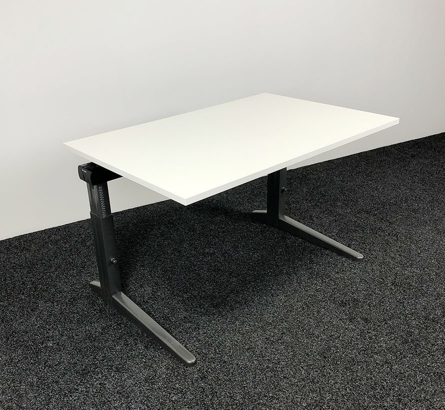 Ahrend Essa Knop Verstelbaar Bureau   120 x 80 cm   Nieuw Wit Blad