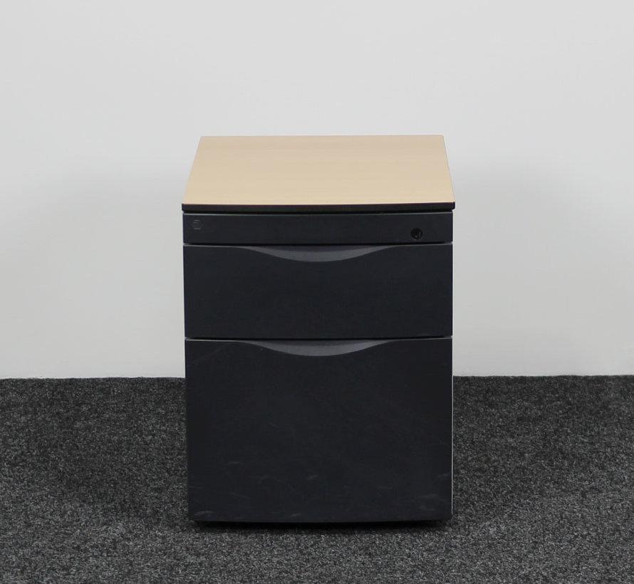 Aspa Klein Ladeblok Aluminium | 54 x 42 x 59 cm - 2 Laden