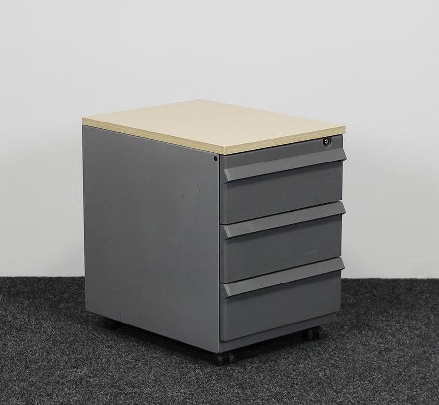 Ahrend Ladeblok Aluminium 3-Laden 58 x 42 x 57 cm