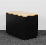 Gispen Zwart Ladeblok Met Handgrepen 3-Laden | 61 x 44 x 80 cm
