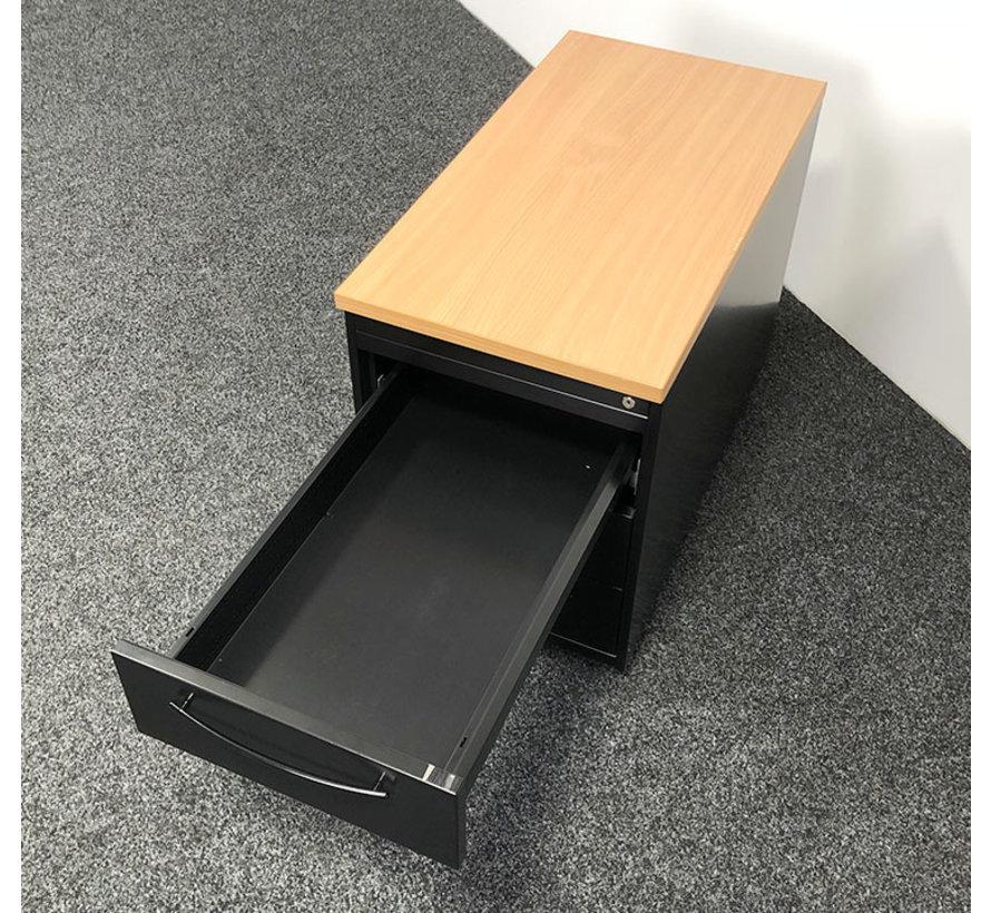 Zwart Ladeblok Met Handgrepen 3-Laden | 61 x 44 x 80 cm