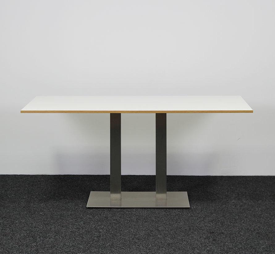 Pedrali Inox 4467 Kantinetafel Wit Blad 160 x 70 cm