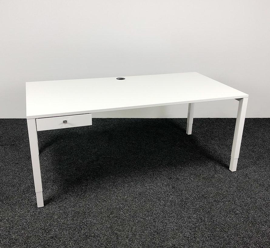 Inbus Verstelbaar Bureau Wit - 180 x 90 cm