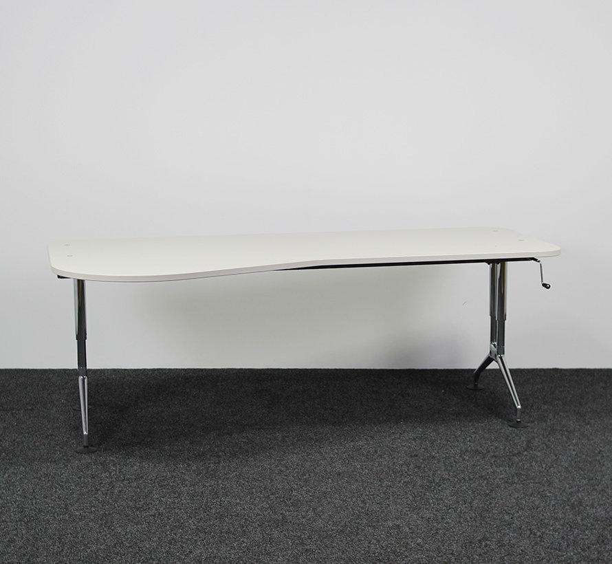 Vitra Ad Hoc Slingerbureau - 200 x 80/100 cm Links