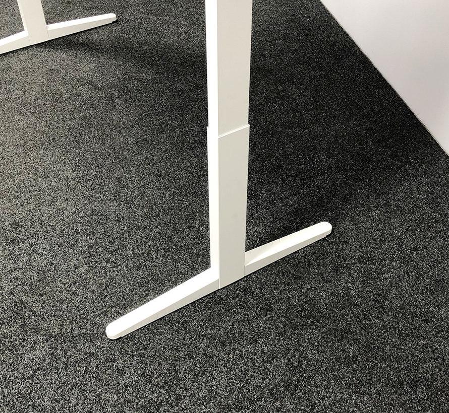 Ahrend Balance Zit-Sta Bureau | Wit Frame - Wit Bureaublad  160 x 80 cm