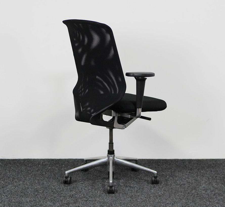 Vitra Meda Pro Bureaustoel Zwart - Nieuwe Stoffering