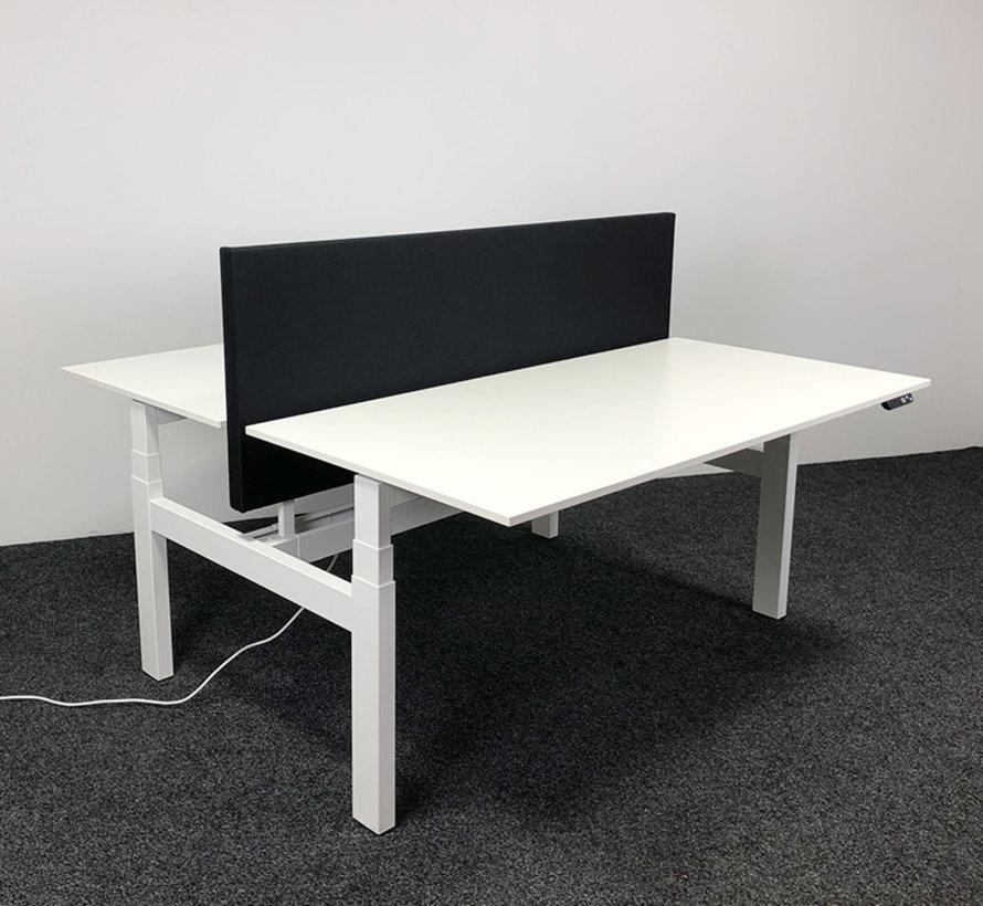 Ahrend Zit-Sta Duo Bureau 160 x 80 cm - Inclusief Akoestisch Bureauscherm
