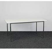 Lamers Kantoormeubelen Kantinetafel Chroom - Wit Blad 160 x 80 cm