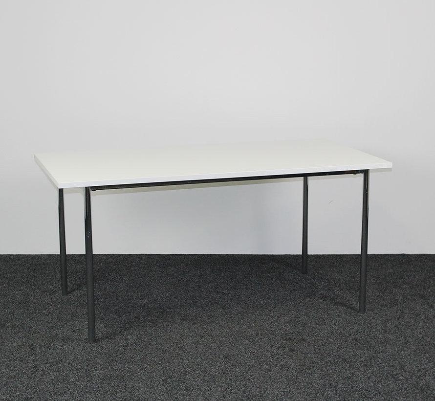 Kantinetafel Chroom - Wit Blad 180 x 80 cm