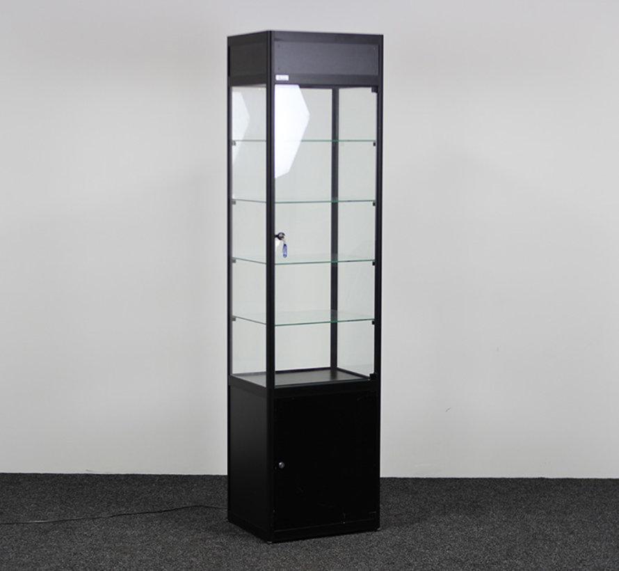 Helioz Vitrinekast Zwart 197 x 50 x 40 cm