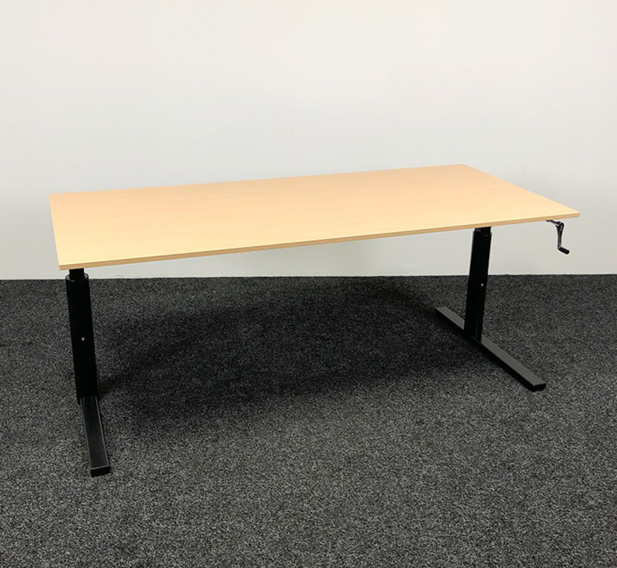 Gispen TM Slingerbureau - 180 x 80 cm Beuken Blad