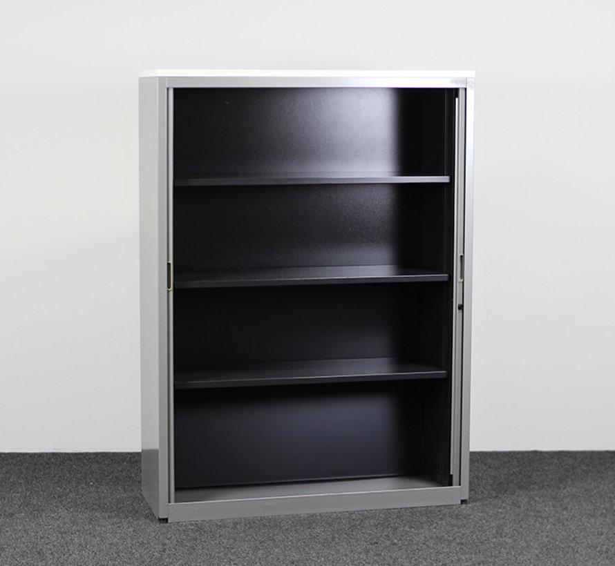 Aspa Roldeurkast Grijs   165 x 120 x 47 cm - Nieuw Wit Topblad