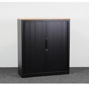 Lamers Kantoormeubelen Roldeurkast Zwart   139 x 120 x 43 cm