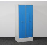 Overtoom Overtoom Locker L-Deuren Grijs/Blauw | 185 x 83 x 50 cm