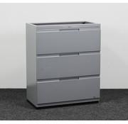 Gispen Gispen Werkplaats Ladekast Grijs 3 Laden | 104 x 85 x 45 cm