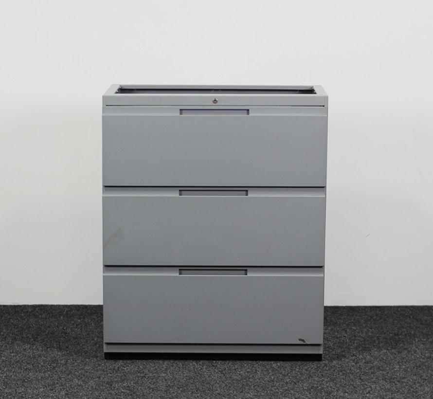 Gispen Werkplaats Ladekast Grijs 3 Laden | 104 x 85 x 45 cm