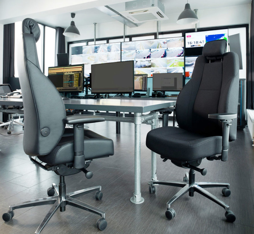 24 Uurs Bureaustoel L1   Gestoffeerd