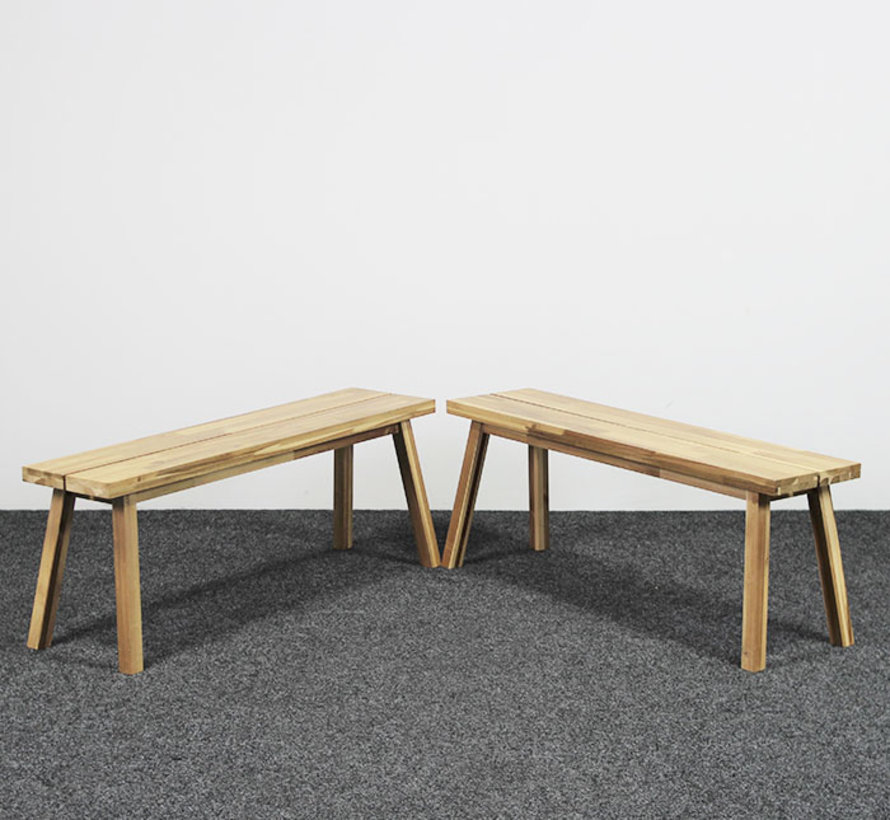Houten Bankje Acacia - 120 cm