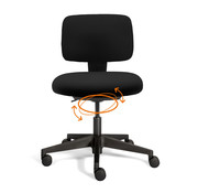 Spindl Bureaustoel Hopp Zwart | Actief Zitten