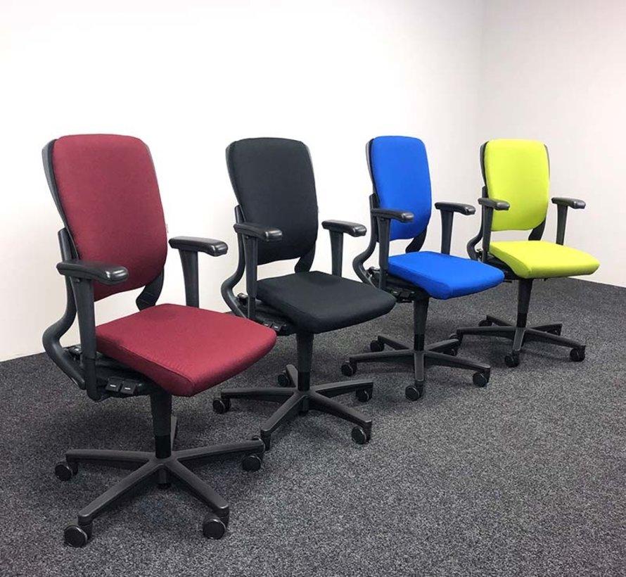 Ahrend 230 Bureaustoel Bordeaux Rood | Nieuw Gestoffeerd - Hoge Rug