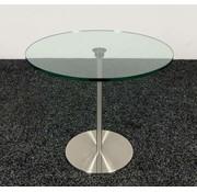Lamers Kantoormeubelen Glazen Bijzettafel Rond - 45 cm