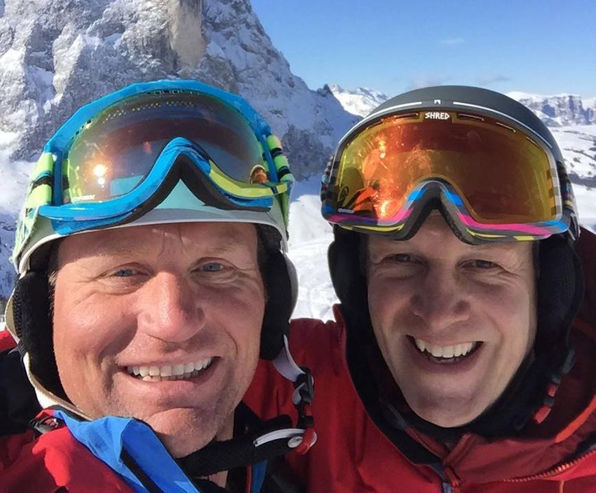 Richard Molernaar en Marko van der Zande. Eigenaren van Skicentrum Heemskerk