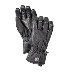 Hestra Army Leather Soft Shell Short Gloves Black/Black