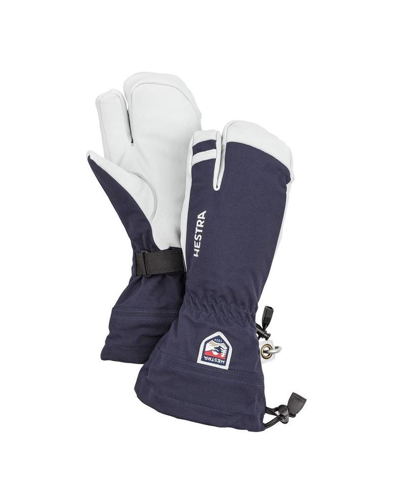 Hestra Army Leather Heli Ski 3-finger Gloves Navy