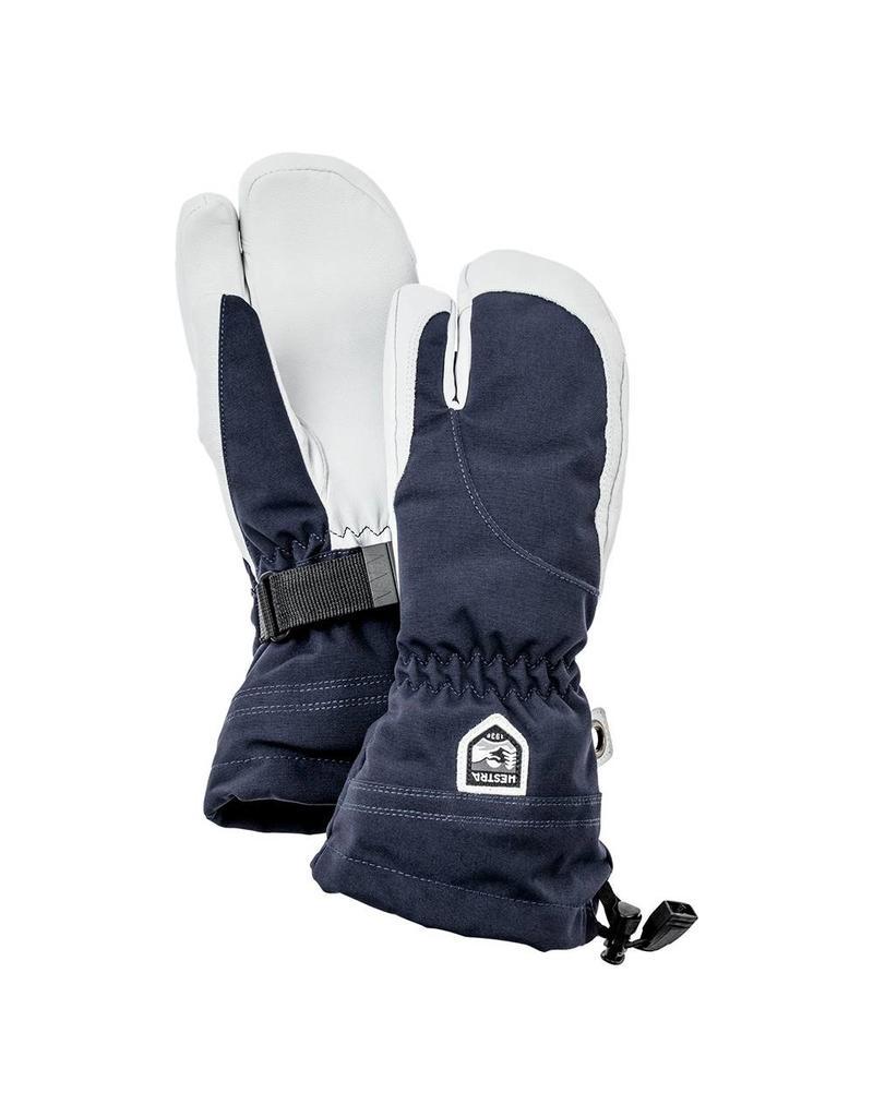 Hestra Heli Ski 3-vinger Dames Handschoenen Navy Wit