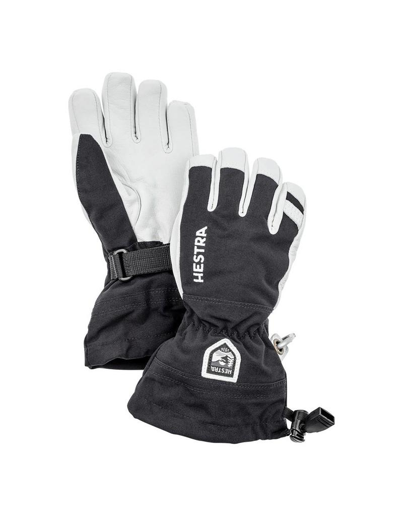Hestra Army Leather Heli Ski Jr Gloves Black