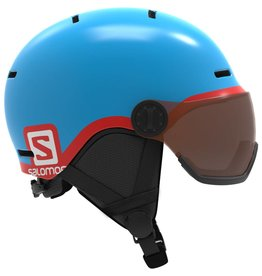 Salomon Grom Visor Helmet Junior Blue