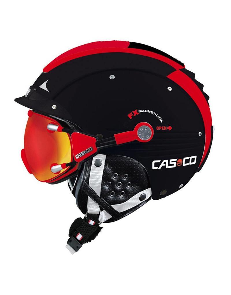 Casco SP-5 Visor Helm Black Red