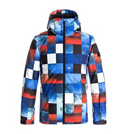 Quicksilver Ski Jacket Mission Printed Youth Blue