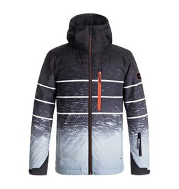 Quiksilver Mission Engineered Youth Ski Jacket Black Blur Lights