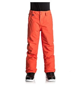 Quicksilver Estate Youth Ski Pants Mandarin Red