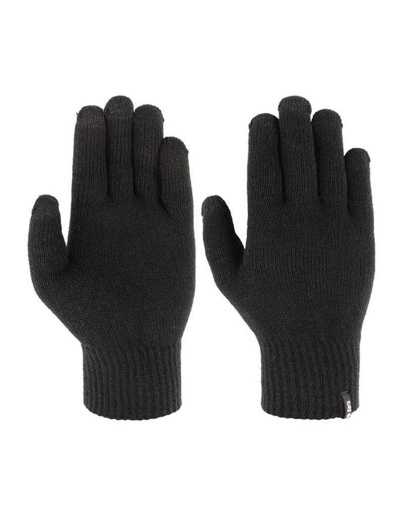 Barts Fine Knitted Gloves Black