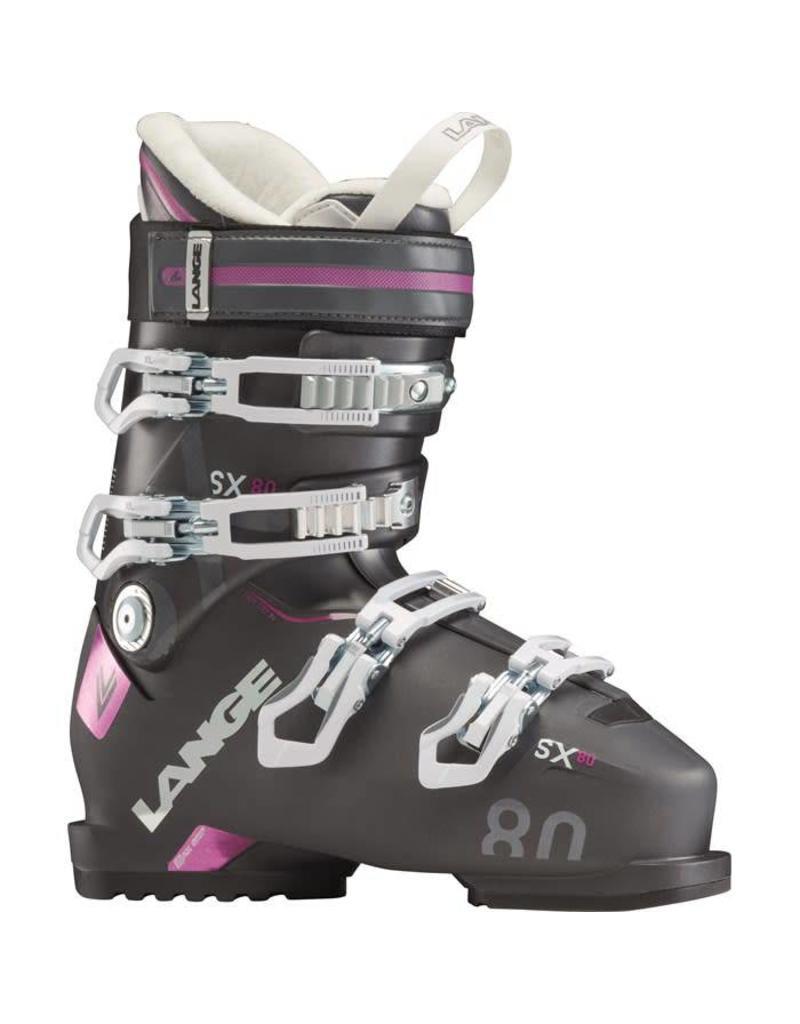 Lange SX 80 W Women Ski Boots Anthracite Purple
