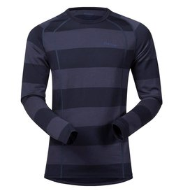 Bergans Fjellrapp Shirt Dark Navy Blue Striped