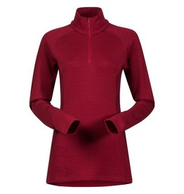 Bergans Snoull Lady Half Zip Red Burgundy