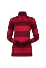 Bergans Fjellrapp Lady Half Zip Red Burgundy