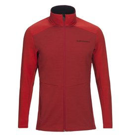 Peak Performance Helo Mid-Layer Zip-Up Jacket Red Pompeian