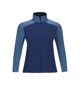 Peak Performance Women's Helo Mid Layer Zip-Up Jacket Blue Organic