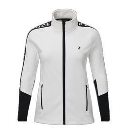 Peak Performance Women's Rider Mid Layer Zip-Up Jacket Off White