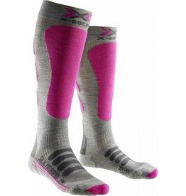 X-Socks Ski Silk Merino Lady Grey Fuchsia