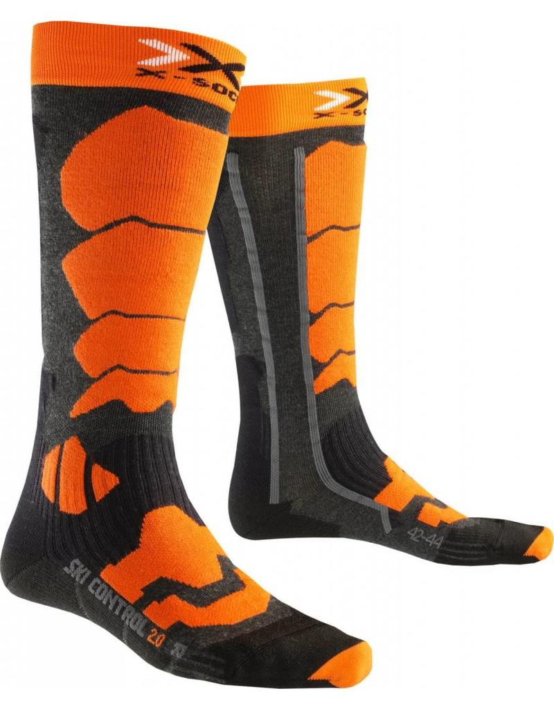 X-Socks Ski Control 2.0 Anthracite Orange