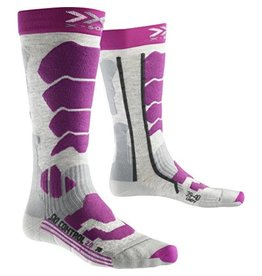X-Socks Ski Control 2.0 Lady Light Grey Melange Violet