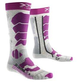 X-Socks Ski Control 2.0 Lady Light Gris Melange Violet
