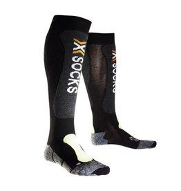 X-Socks Skiing Light Noir Jaune Fluo