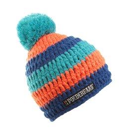Poederbaas Kleurrijke Muts Blauw/Oranje/Licht Blauw