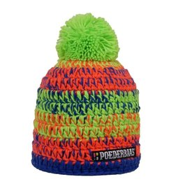 Poederbaas Colourfull Cap Orange/Green/Blue